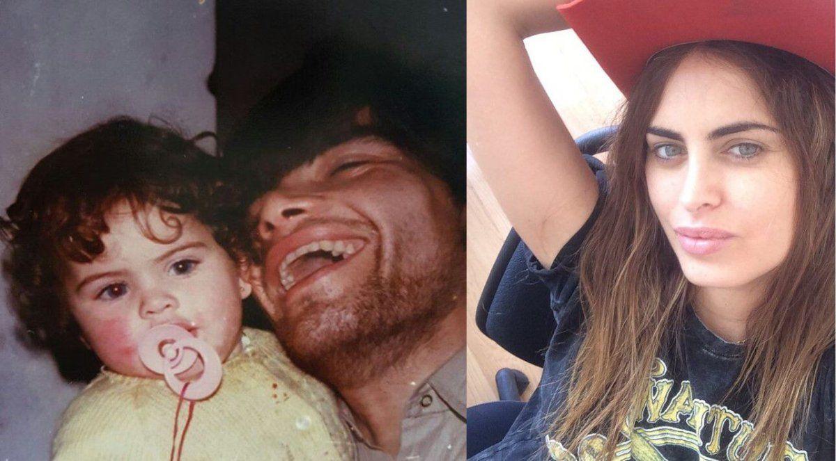 Vintage y emoción: la foto de Silvina Luna, a los dos años, con su papá