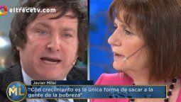 Patricia Bullrich y Javier Milei se dijeron de todo en La noche de Mirtha