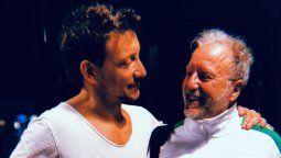 Nico Vázquez junto a Hugo Accardi, padre de Gimena Accardi
