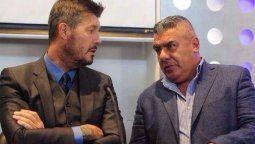 Marcelo Tinelli y EL Chiqui tapia presidente de la AFA llegaron a un acuerdo con Disney