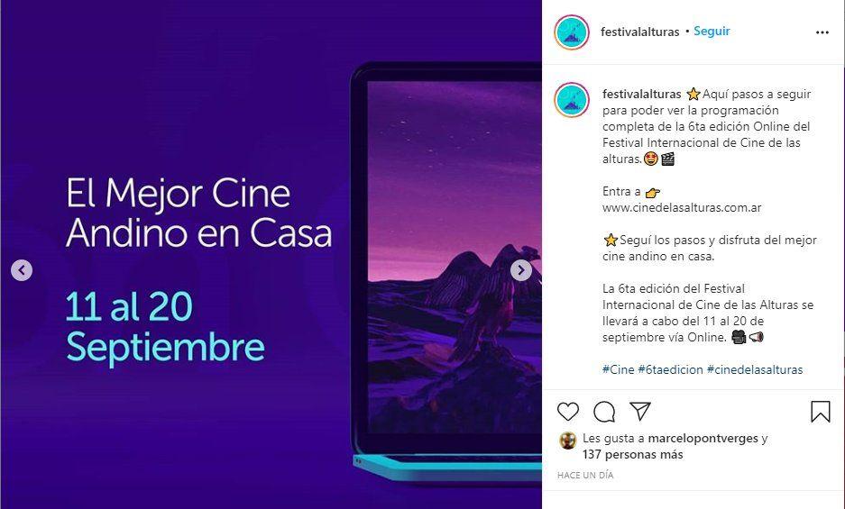 El Festival de Cine de Las Alturas se celebrará del 11 al 20 de septiembre en Jujuy