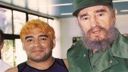 Diego Maradona dejó varios regalos de Fidel Castro en Cuba