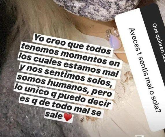 La confesión de Morena Rial en Instagram