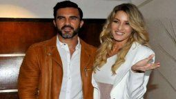 Mica Viciconte junto a su pareja el ex jugador Fabián Cubero