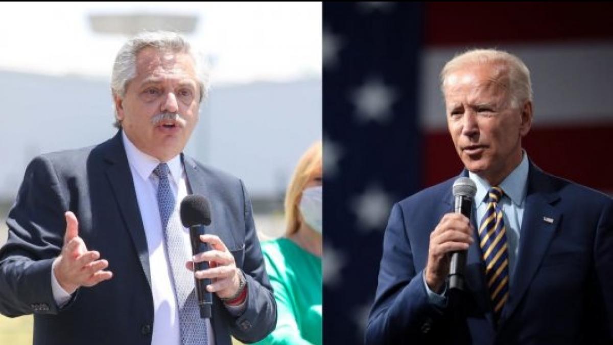 Esta tarde el presidente Alberto Fernández habló con Joe Biden