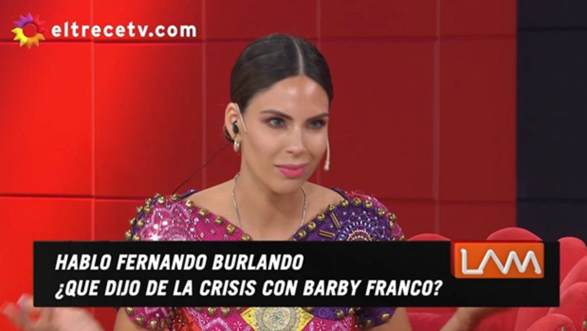 Barby Franco insiste en que su relación con Fernando Burlando no terminó