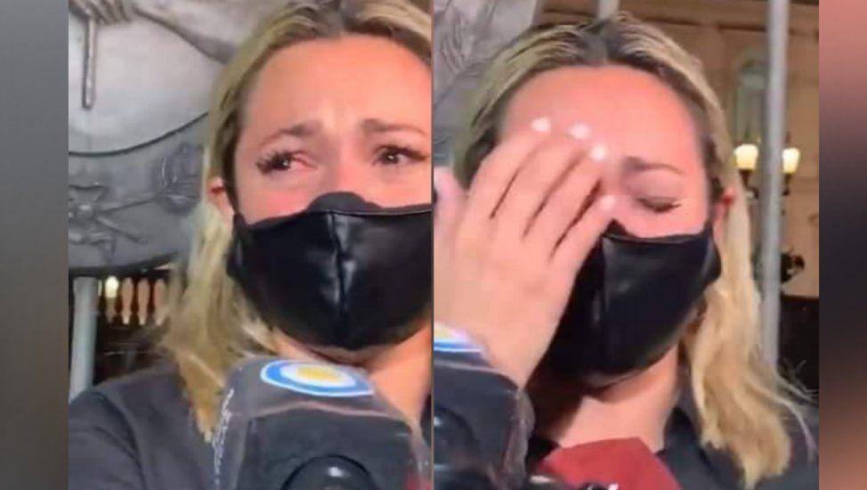 Rocío Oliva con su llanto desgarrador
