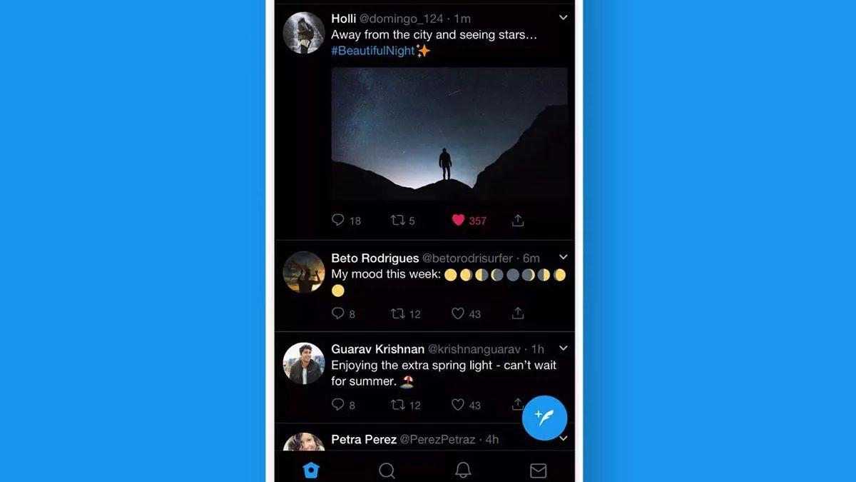 Twitter es una de las redes que ya posee la herramienta de modo oscuro