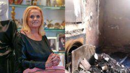 Así quedó el departamento de Elsa Serrano tras el incendio que le provocó la muerte