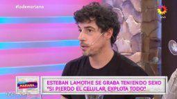 Esteban Lamothe habló sin tabú de los videos sexuales que graba con su novia