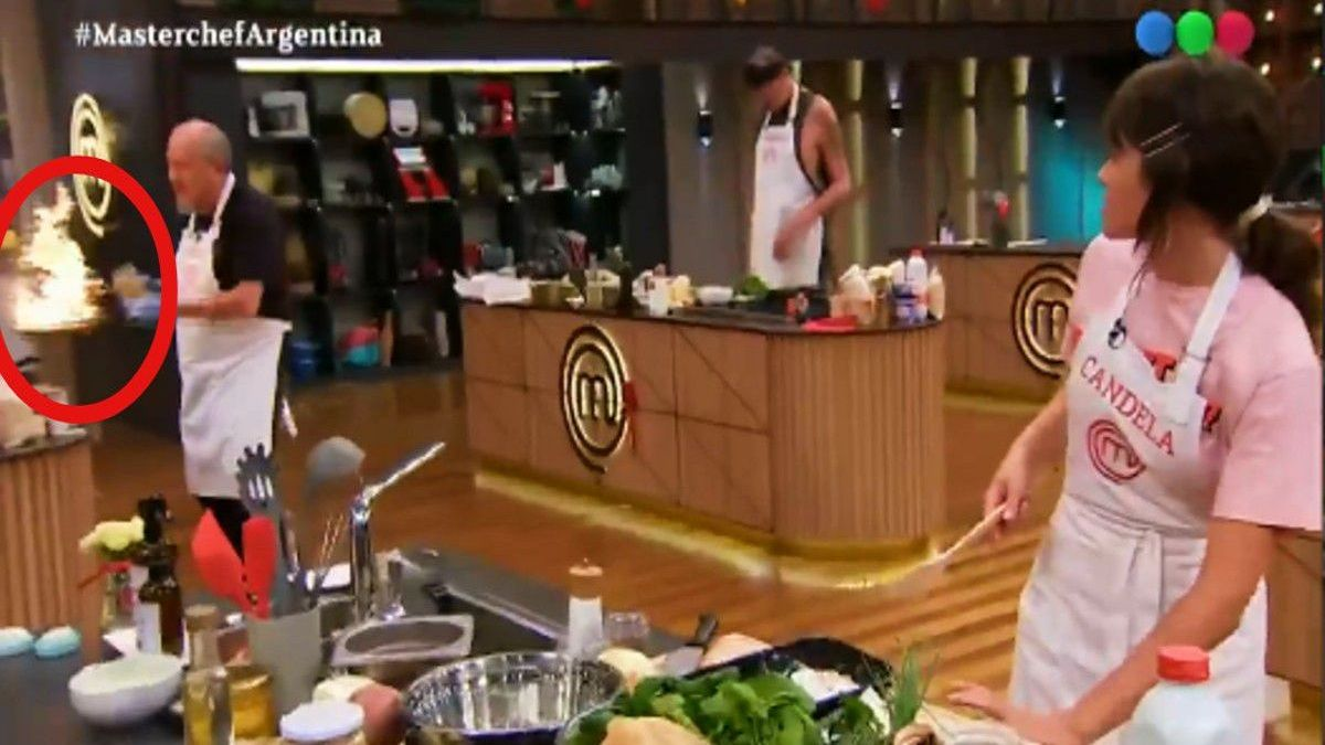 Cande Vetrano se preocupó ante una técnica de cocina que usó Daniel Aráoz