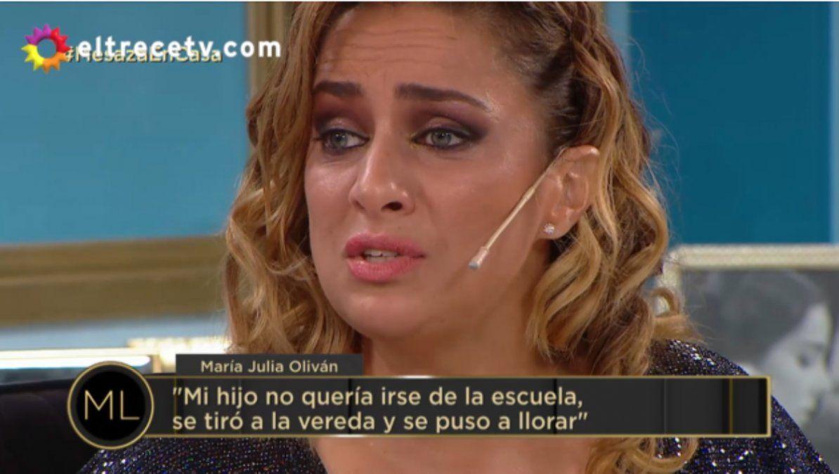 La angustia de María Julia Oliván por la suspensión de clases: Mi hijo se tiró al piso, se puso a llorar
