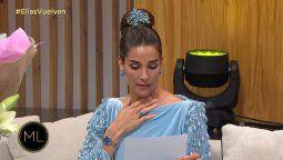 Juana Viale se quebró al leer una carta que le envió Mirtha Legrand