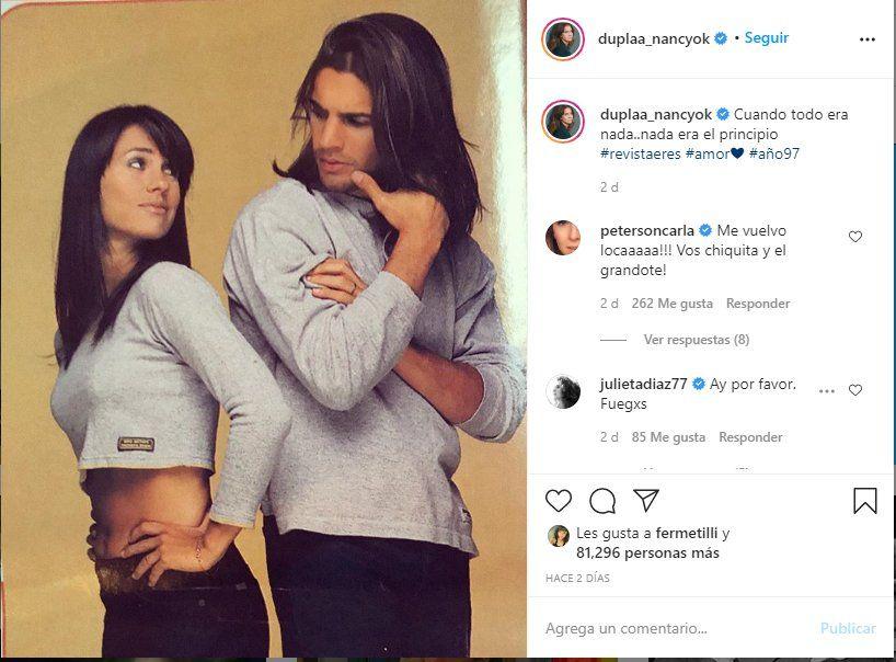 Esta es la foto que campartió Nancy Dupláa junto a Pablo Echarri y que emocionó a sus admiradores