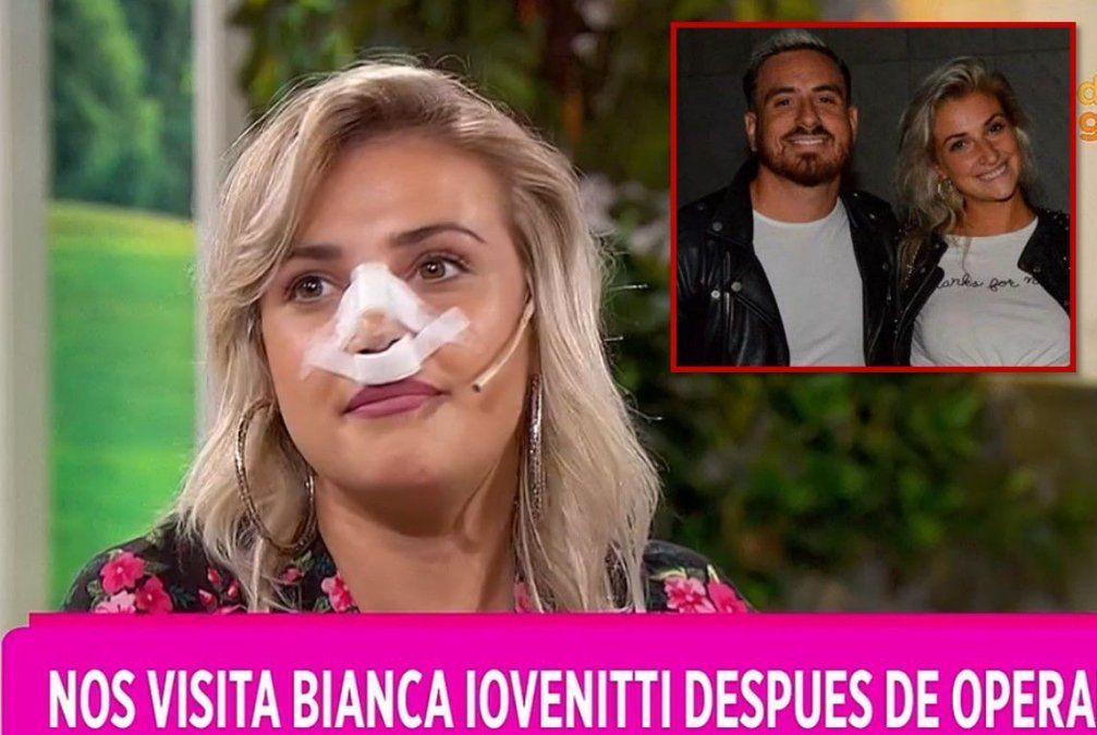 ¡¡Hay necesidad!! Bianca Iovanetti apareció recién operada y con vendas en un programa de TV