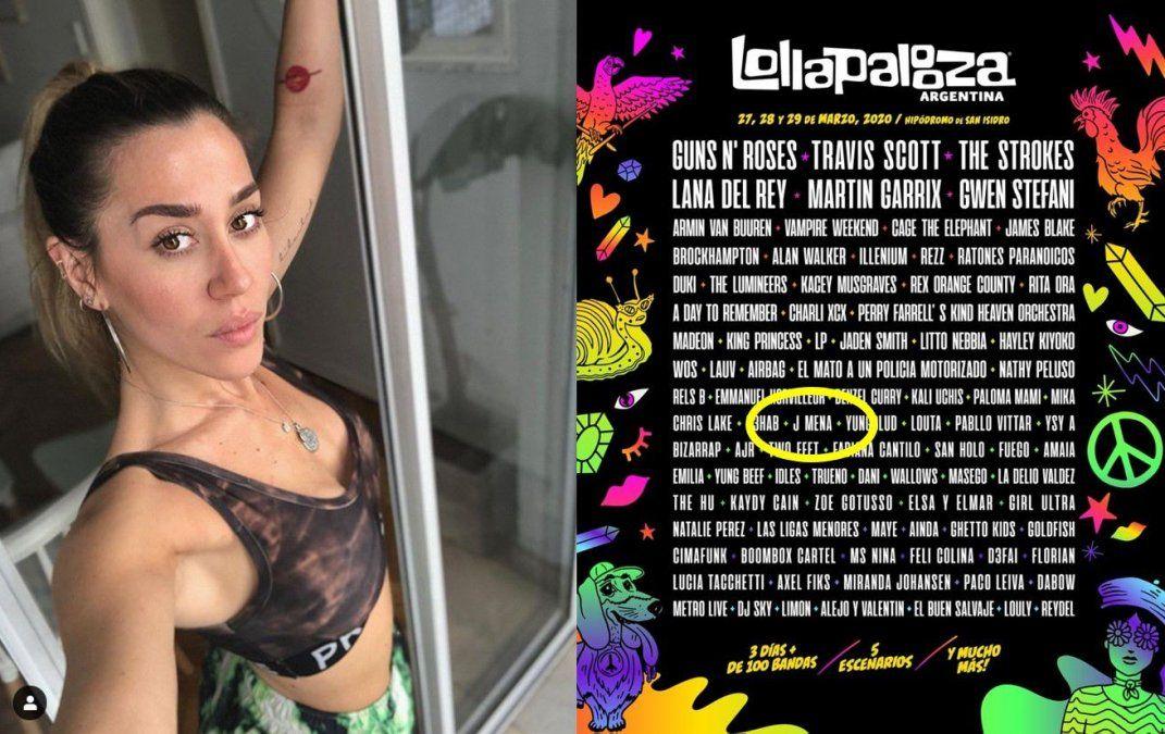 Destruyen a Jimena Barón en las redes por su participación en el Lollapalooza: Argentina es el único país que la junta con Guns N Roses