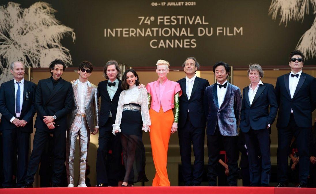 Wes Anderson desfiló por la alfombra roja del Festival de Cannes