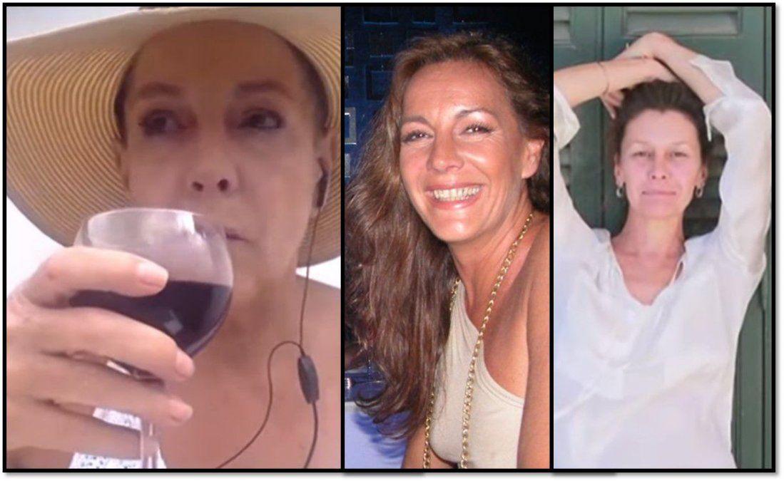 Con copa de vino en mano Mónica Gonzaga arremetió contra Ethel Brero: Todo esto le encanta, la excita