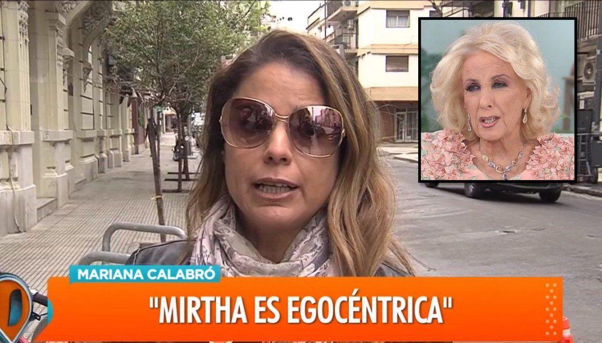 Marina Calabró continúa indignada y le responde a Mirtha Legrand: Es una egocéntrica