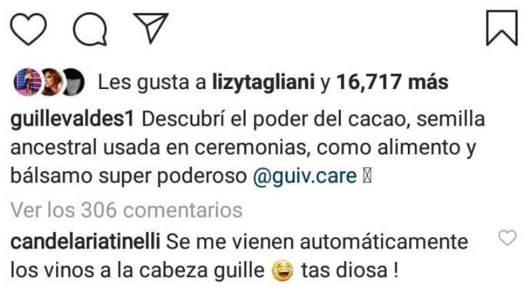 Comentario de Cande Tinelli a Guillermina Valdés