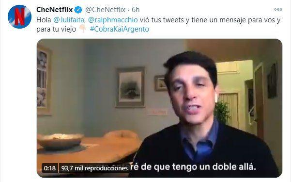 Este es el saludo que el actor de Cobra Kai Ralph Macchio le envió al Daniel LaRusso argentino