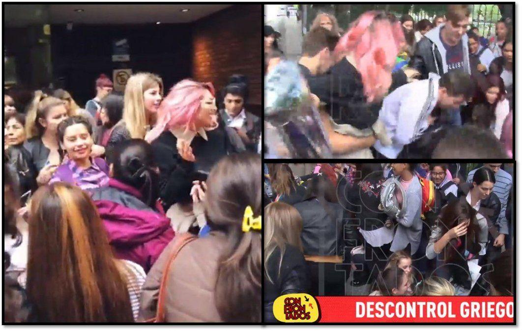 El insólito y polémico video de Vicky Xipolitakis: regaló ropa que no usa en una plaza y armó un escándalo