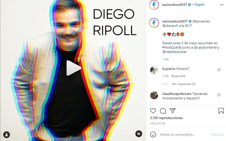 Radio Nacional Rock anunció la incorporación de Diego Ripoll