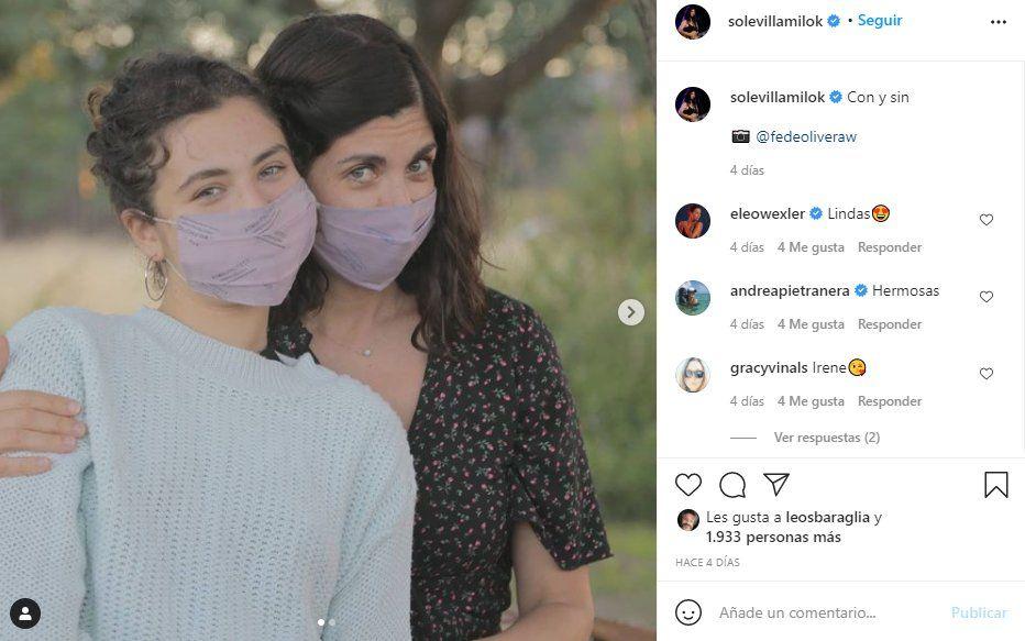 Una de las hijas de Soledad Villamil y Feredico Olivera hizo pública la fotografía de la boda