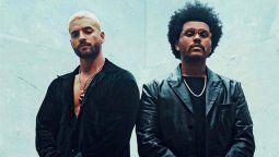 Maluma hizo que The Weeknd cantara en español en el remix de Hawái
