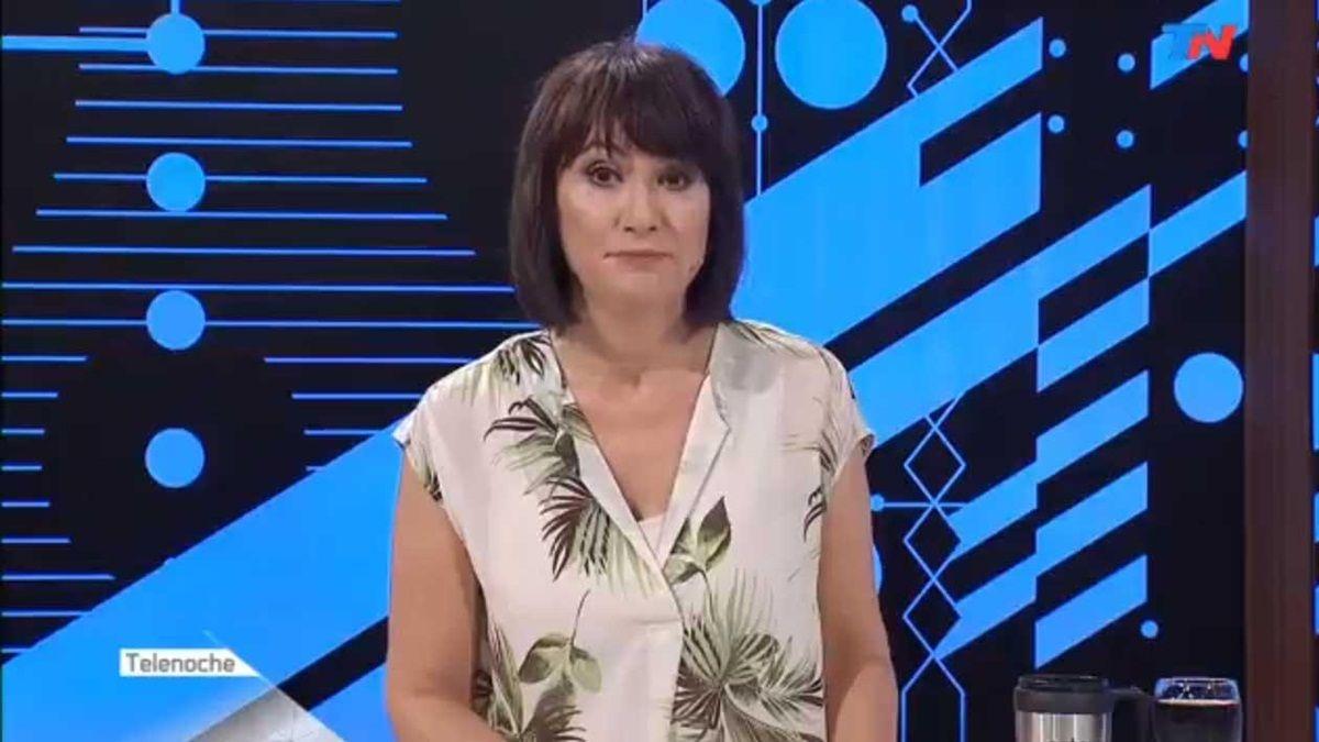 El torneo de chicanas de María Laura Santillán en Telenoche