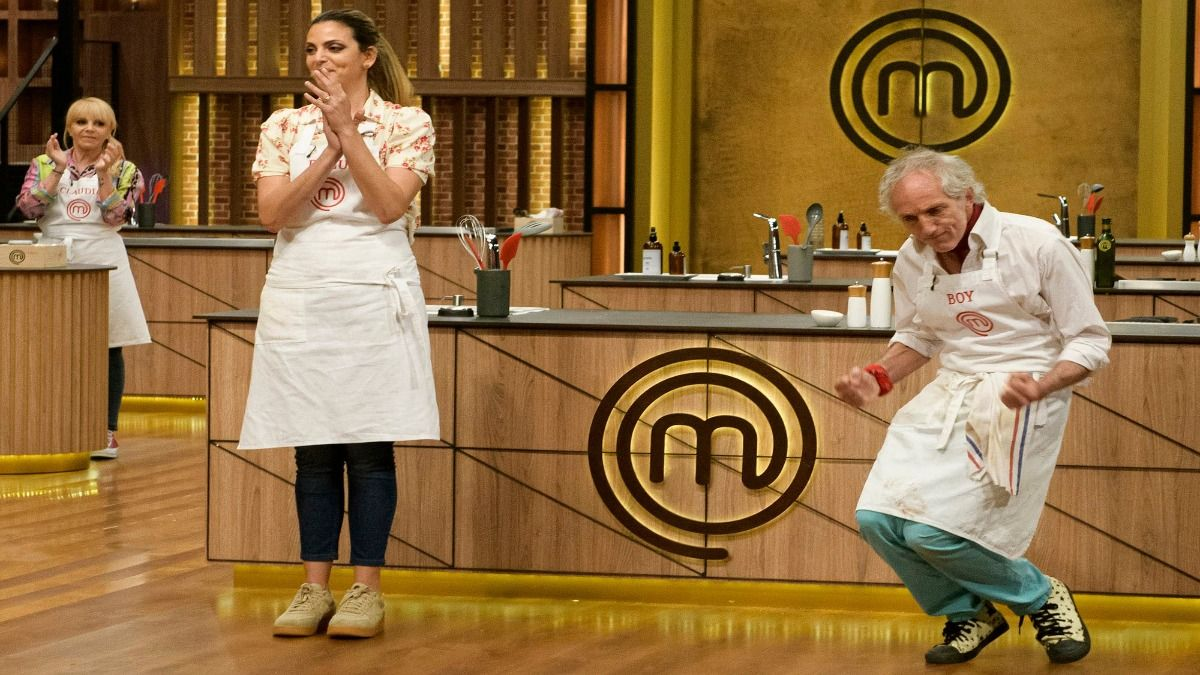 A Belu Lucius y Boi Olmi no les alcanzó para subir al balcón en la noche vegetariana de Masterchef Celebrity Argentina