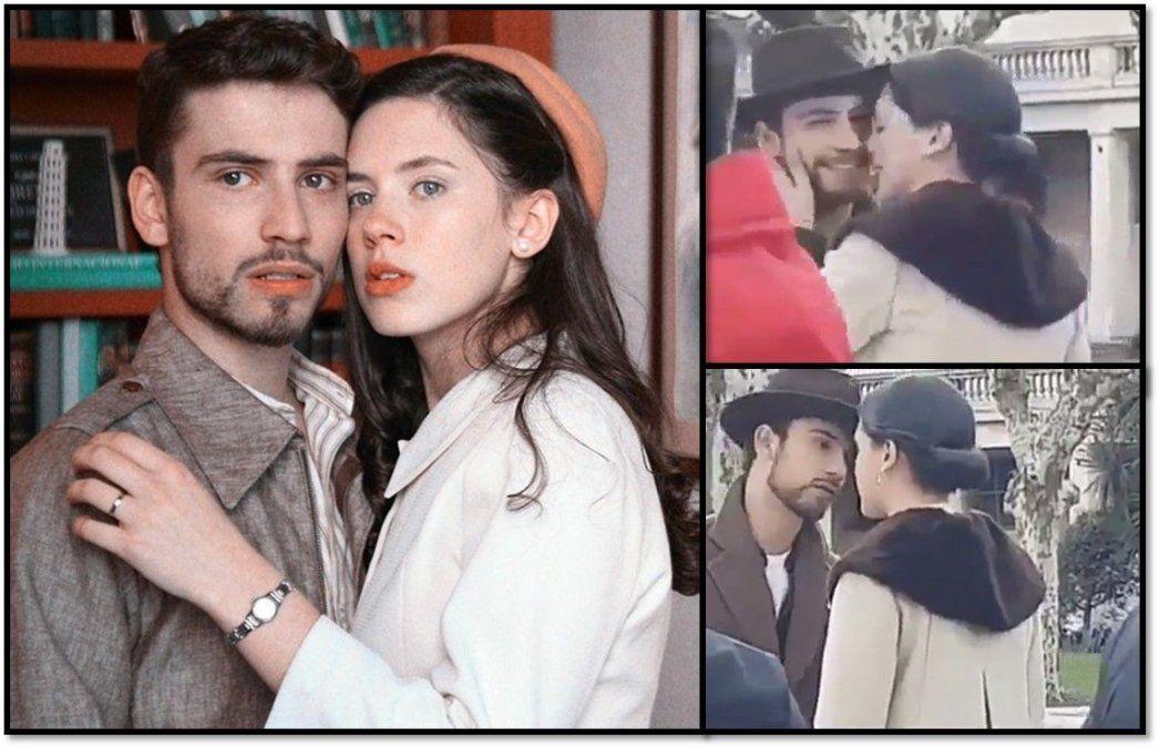 Miradas cómplices y gestos cercanos entre Delfina Chaves y Albert Baró detrás de las grabaciones de ATAV: ¿hay romance?