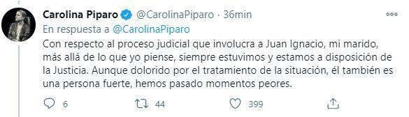La diputada provincial Carolina Píparo habló del proceso judicial que involucra a su esposo