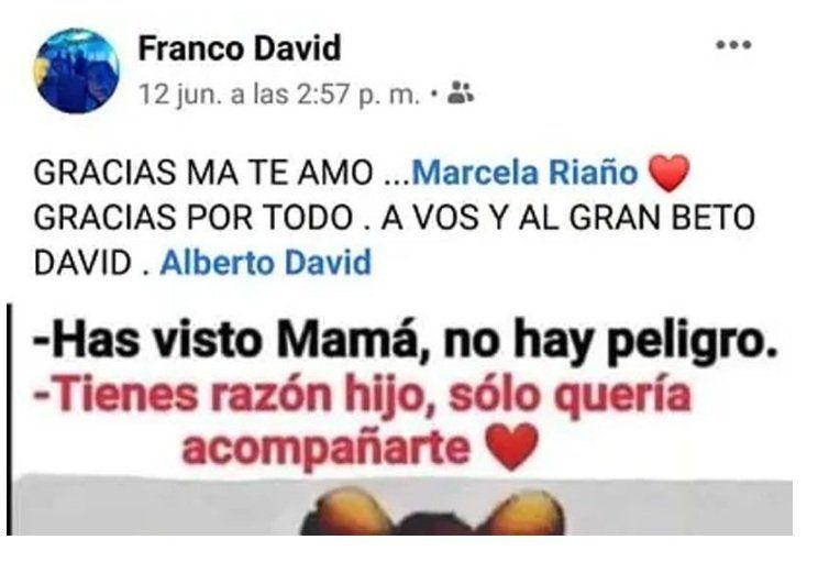 Franco David en Facebook