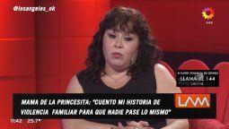 La mamá de Karina la Princesita contó que el papá de la cantante le revoleó una botella cuando era niña