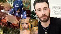 ¡Héroe! Chris Evans premia con escudo del Capitán América a niño que salvó a su hermana