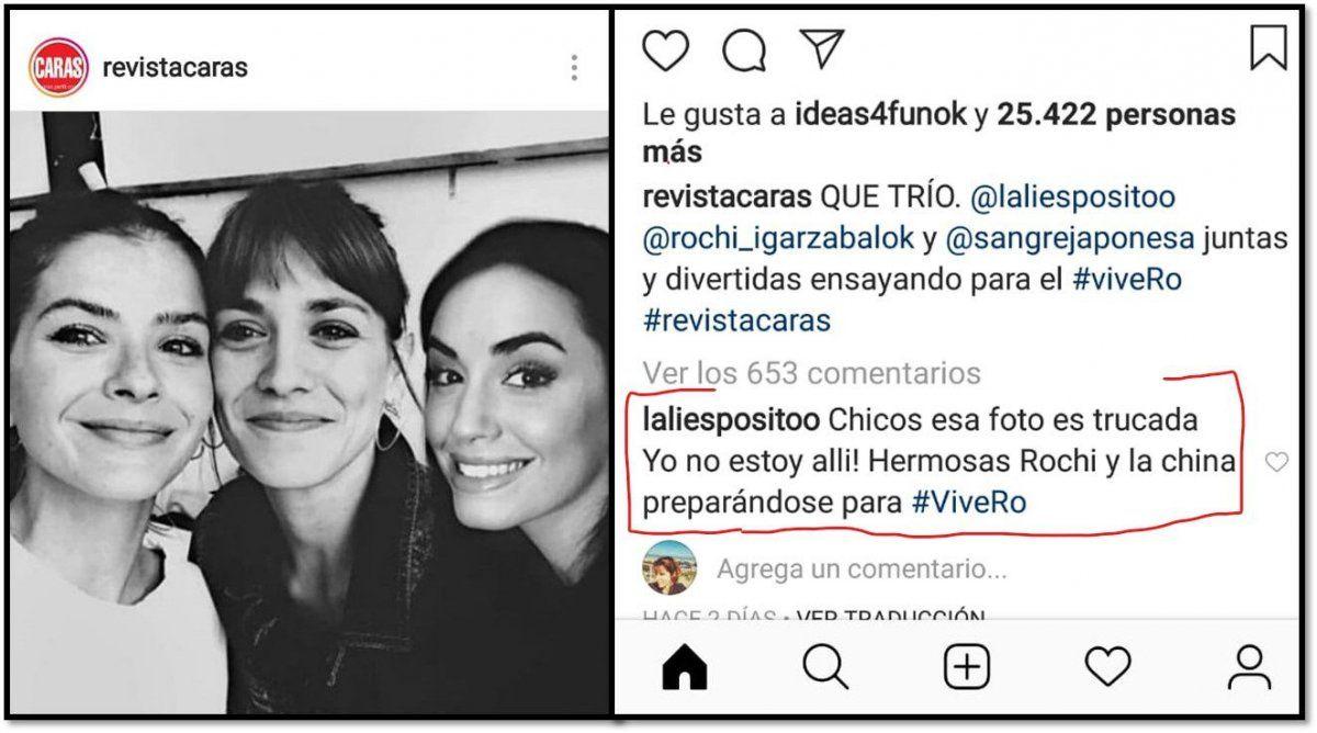 Lali Espósito acusa a revista Caras de trucar una foto en la que aparece con China Suárez