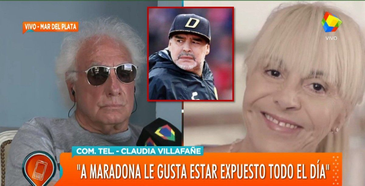 Claudia Villafañe y Guillermo Coppola después de años, unidos en contra de la serie de Maradona
