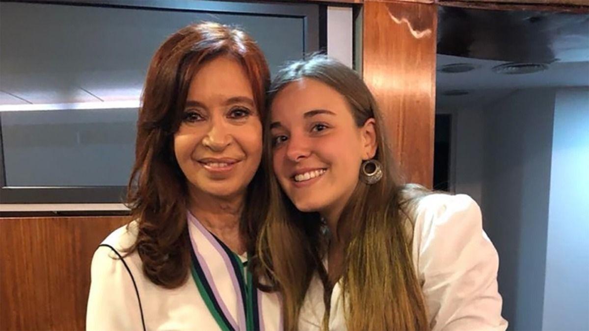 La vicepresidenta Cristina Kirchner junto a Celeste Giardinelli hace un año