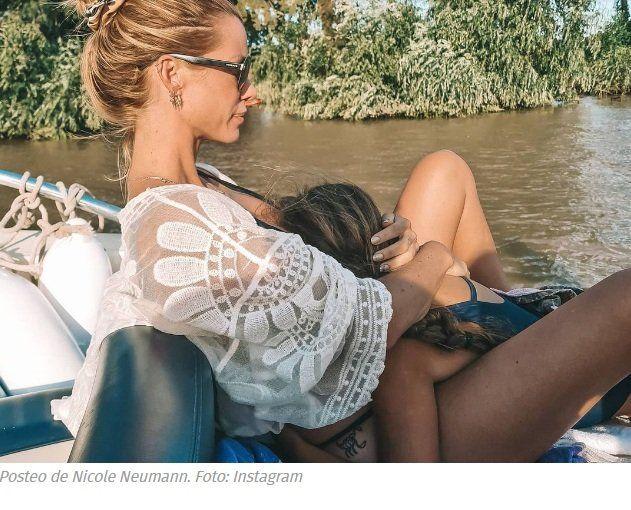 Nicole Neumann compartió fotos con sus hijas pese a la medida cautelar