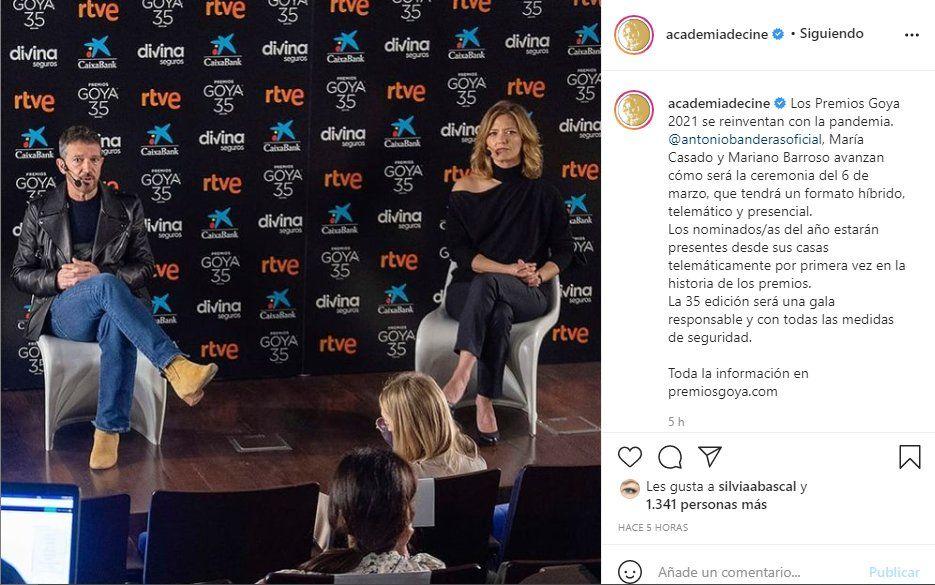 La Academia de Cine Español informó que la gala de los premios Goya se hará de manera virtual