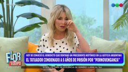Flor Peña no puedo evitar las lágrimas cuando recordó la filtración de su video íntimo