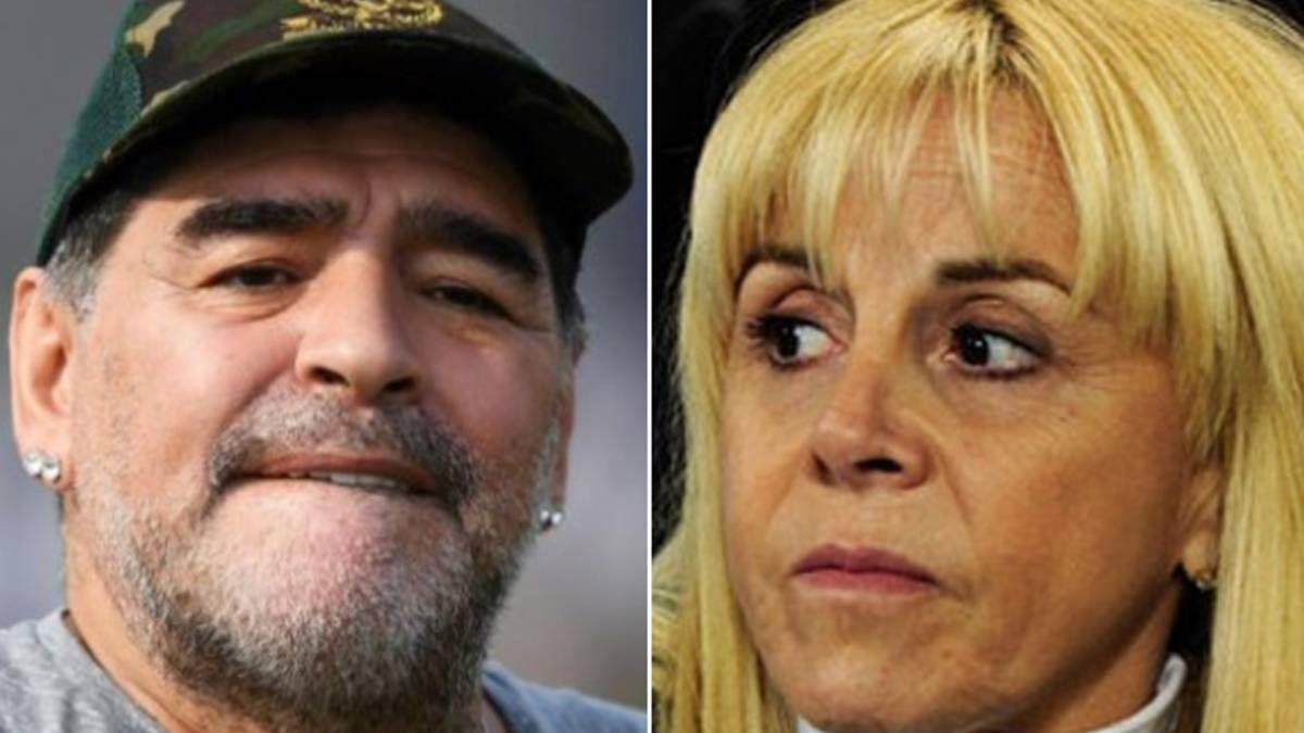 Diego Maradona y su ex mujer Claudia Villafañe se han enfrentado otras veces en los tribunales