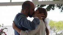 Abel Pintos y Mora Calabrese se casaron por la Iglesia