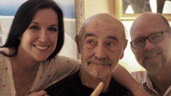 ¡Sonriente! Sean Connery y su última foto pública
