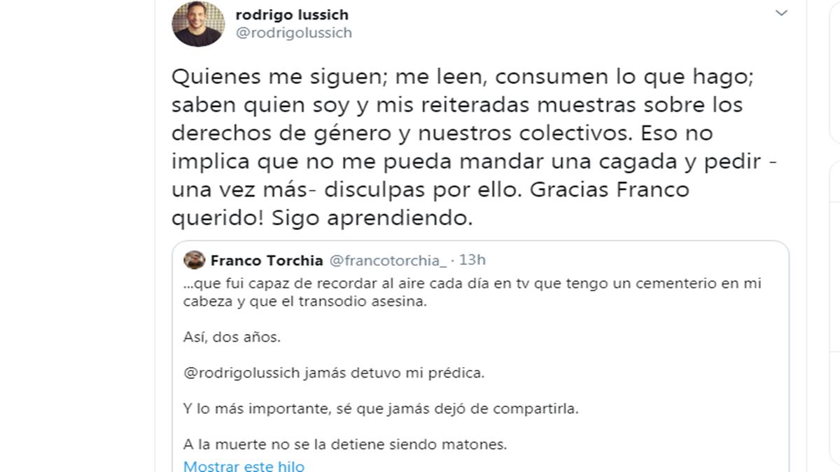 Sigo aprendiendo: Las sentidas disculpas de Rodrigo Lussich