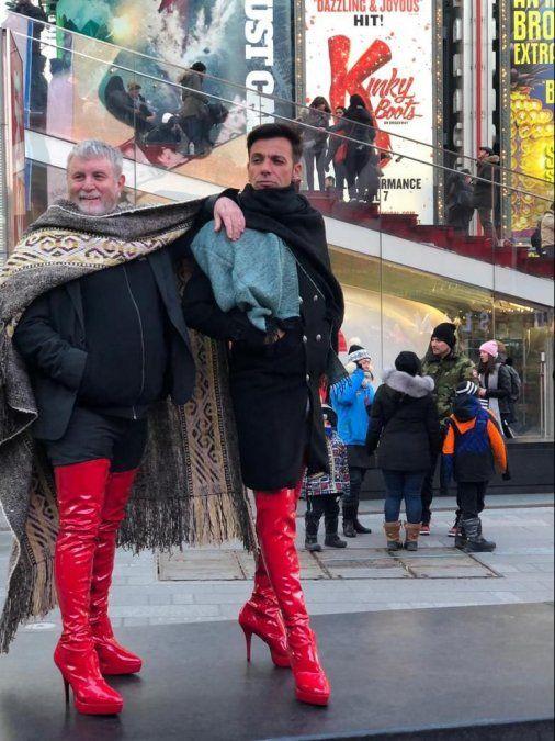 Martín Bossi, en Nueva York, ya se calza las botas de Kinky Boots