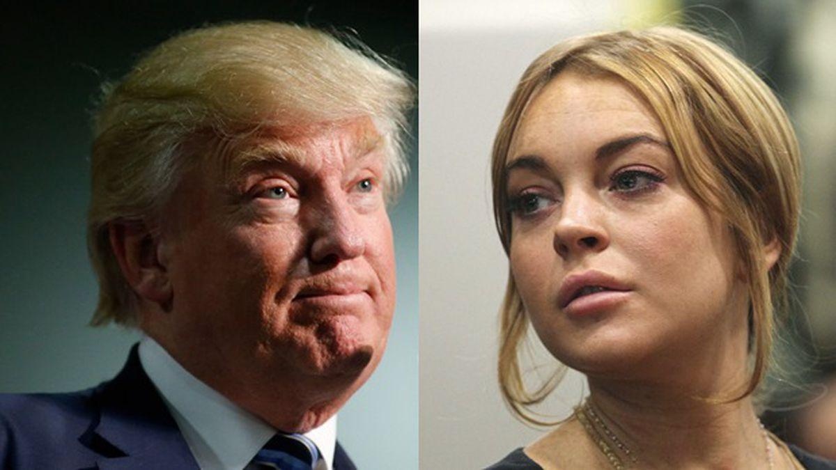 El presidente Donald Trump y la actrizLindsay Lohan
