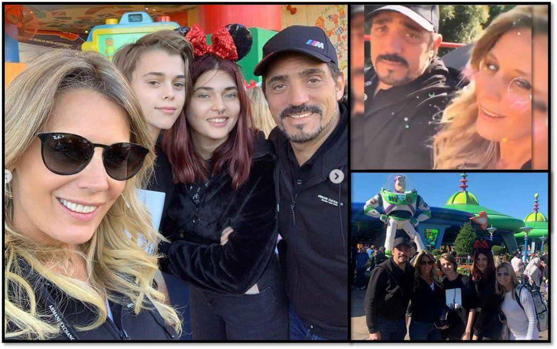 Rocío Marengo y Eduardo Fort blanquearon su relación y viajaron a Disney con Martita y Felipe