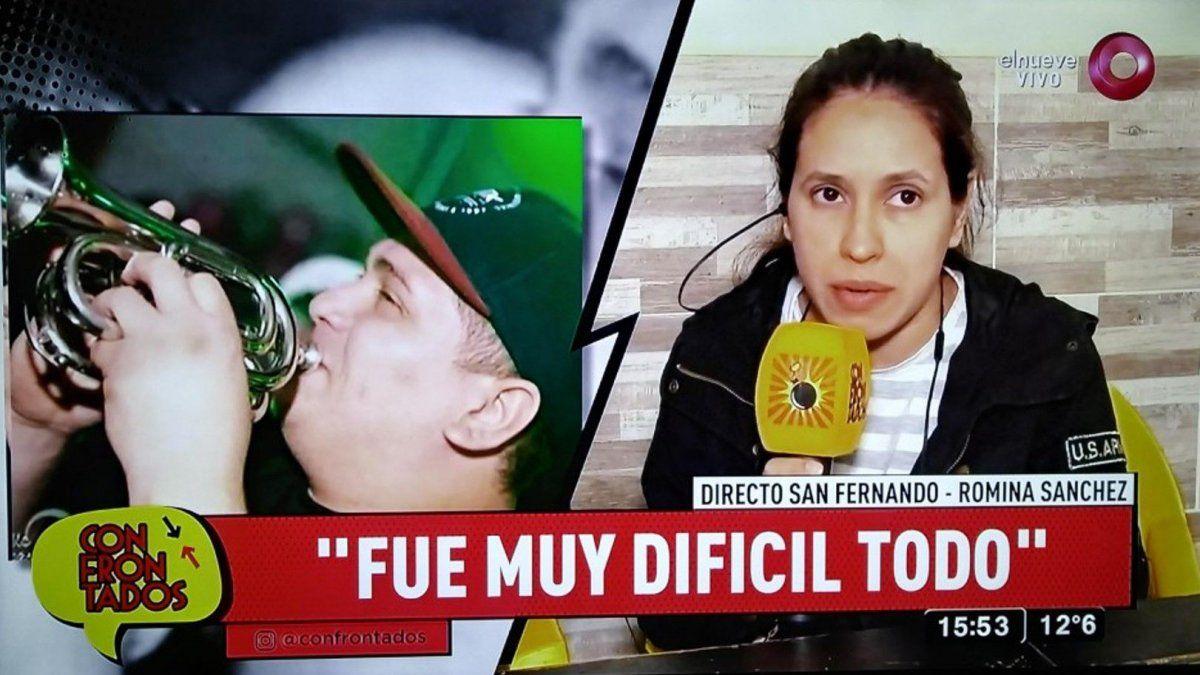 Habló la mujer del trompetista fallecido en el accidente de El Pepo: Decidí entrar sola al parto
